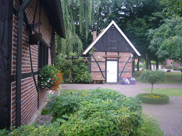 Das Backhaus in Ottmarsbocholt frontal